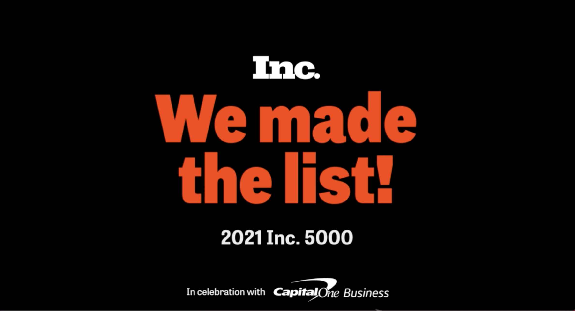Calyx earns spot on the Inc. 5000, ranking No. 1,580 with a 3 year revenue growth of 298%